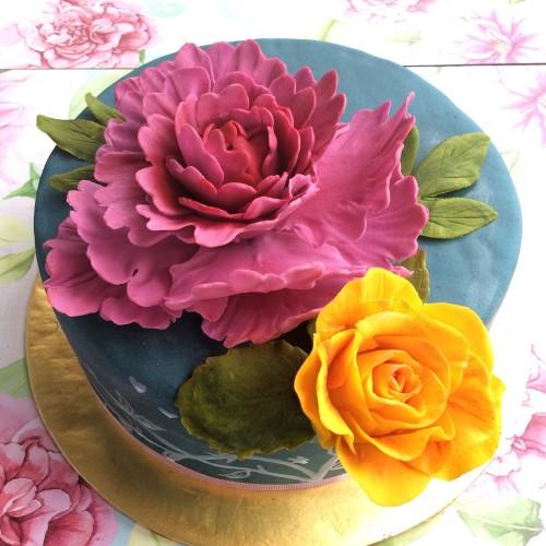 Peony & rose sugarflower class.