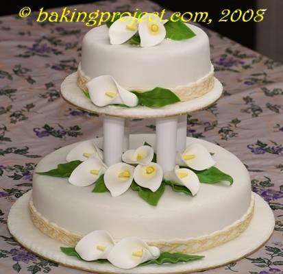 Calla Lily wedding cake « BAKING PROJECT