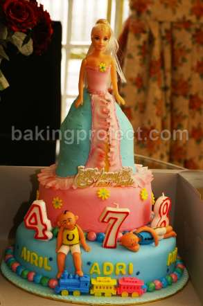 barbie doll cake. Barbie doll cake