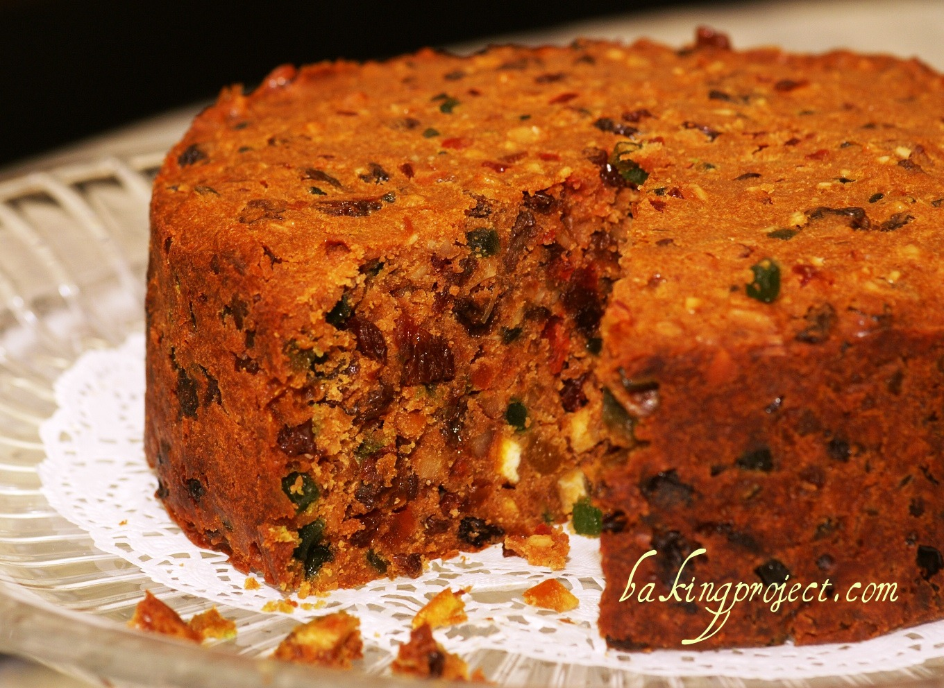Baking a rich fruit cake