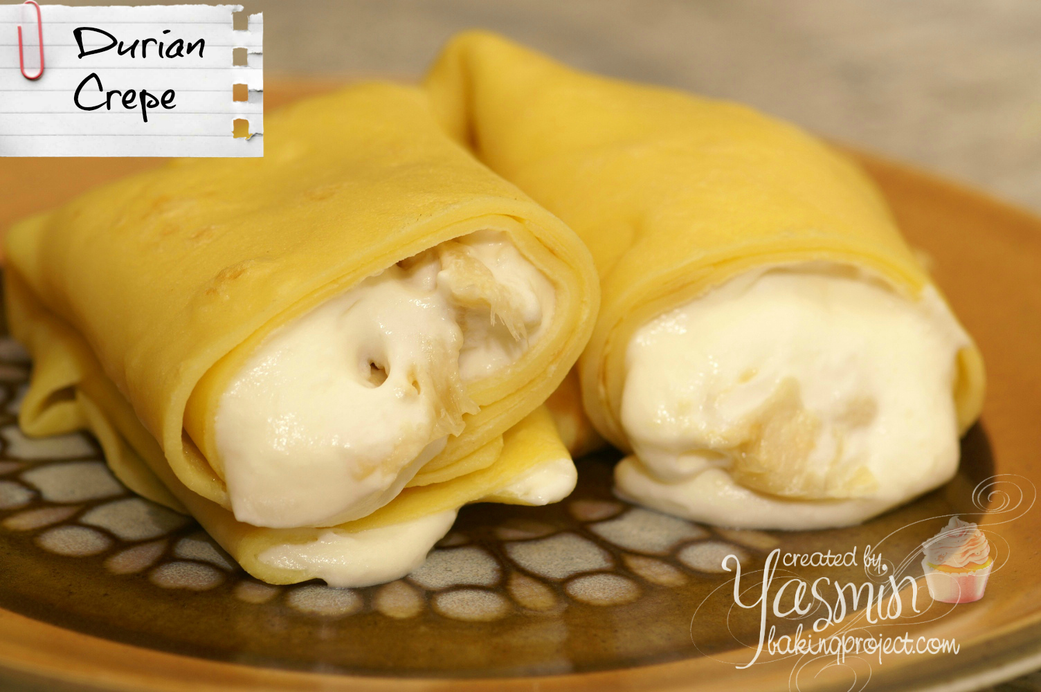 Durian Crepe 171 Baking Project